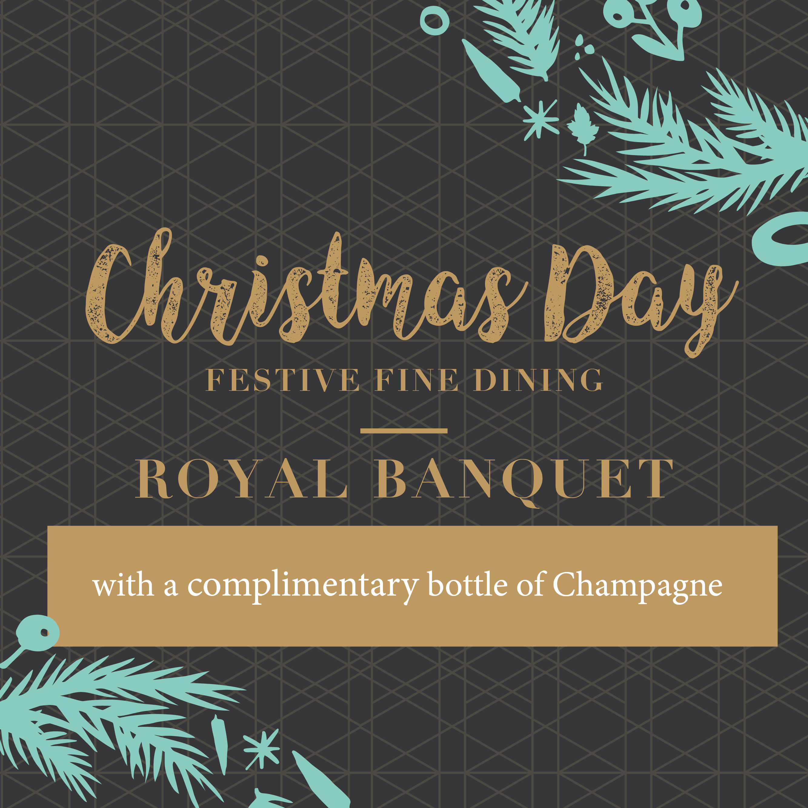 Christmas Day Banquet – Complimentary Champagne