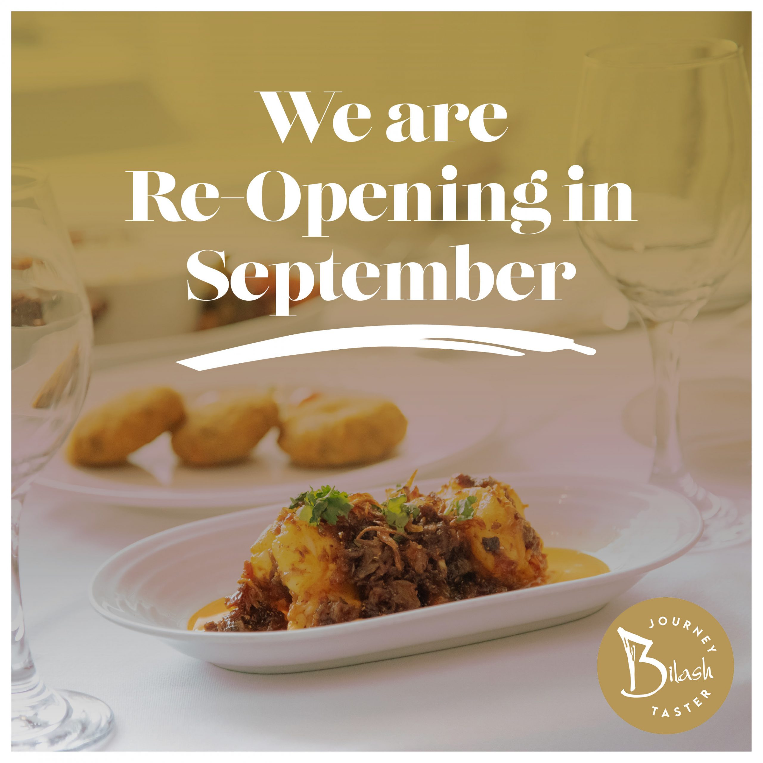 Re-Opening Menu – 4 course Journey Taster